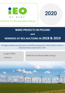 Wind projects and RES auction winners Database – August 2020